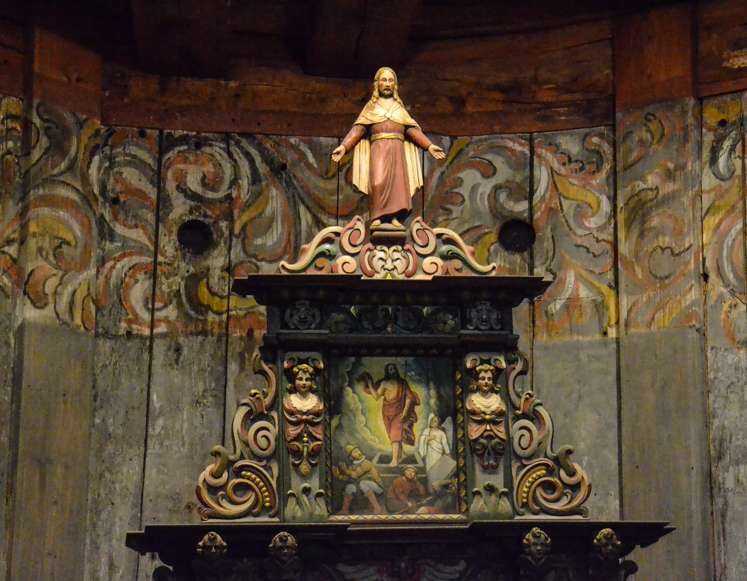 Altertavlen i Heddal stavkirke